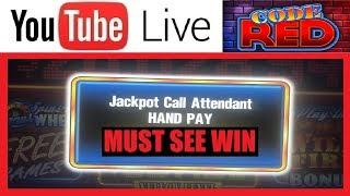 • BIGGEST CODE RED JACKPOT on YOUTUBE • EPIC HANDPAY BONUS • HIGH LIMIT SLOT MACHINE CASINO VIDEOS
