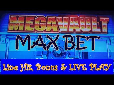 IGT Mega Vault | Max Bet Line Hits+LIVE PLAY & Slot Machine Bonus