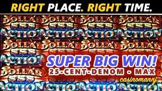 RIGHT PLACE. RIGHT TIME. **SUPER BIG SLOT WIN** - FUN Slot WINS!!! - Slot Machine Bonus