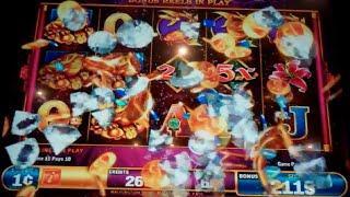 Hu Wang Slot Machine Bonus - 8 Free Games with Wild Multipliers - Nice Win
