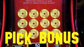 Dancing Drums live play max bet $8.80 with PICK BONUS WMS Slot Machine