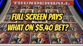 $5.40 BET- FULL SCREEN OF JAMES BOND-HMMMM