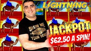 $62.50 Bet ⋆ Slots ⋆HANDPAY JACKPOT⋆ Slots ⋆ On High Limit Sahara Gold Lightning Link Slot Machine | SE-9 | EP-27