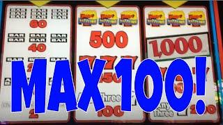 100 SPINS AT MAX BET • WHAT'S MY % PAYBACK? • SIZZLING 7'S SLOT MACHINE • SAN MANUEL CASINO