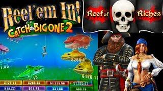 •Catch the BIG ONE 2• Huge Bass Can we Catch it• REEF of RICHES• Free Spins