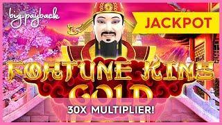 30X JACKPOT, WOW!! Fortune King Gold Slot - SHOCKING HANDPAY! #Shorts