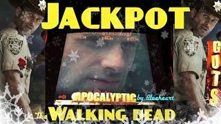 The WALKING DEAD slot machine max bet JACKPOT HANDPAY!