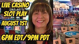 Live Slot play at the Peppermill casino 8/1/2019