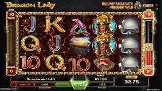 Dragon Lady casino slots - 44 win!