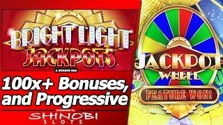 Burning Wolf, Orbs of Fire and Charmed Hearts Slot with Bright Light Jackpots Progressive Feature