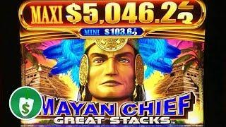 •️ NEW -  Mayan Chief Great Stacks slot machine, 2 sessions