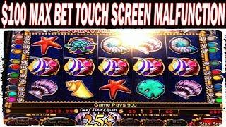 $100 MAX BET TOUCH SCREEN MALFUNCTION MYSTICAL MERMAID LIVE PLAY & BONUS HIGH LIMIT SLOT MACHINE