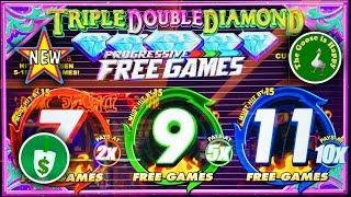 •️ New • Triple Double Diamond Progressive Free Games slot machine, nice bonus