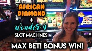 Bonus WIN! African Diamond! SUPER Free Games Buffalo Gold Slot Machine!
