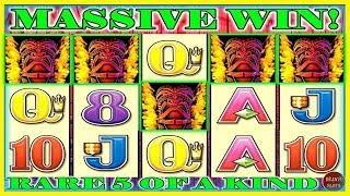 I HIT A RARE 5 OF A KIND MASSIVE LINE HIT! TIKI TORCH MAX BET •️ Deja Vu Slots