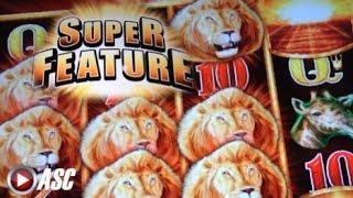 SUNSET KING | Aristocrat - HUGE WIN!! w/ Super Feature Slot Machine Bonus