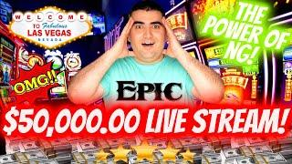 NON STOP HUGE JACKPOTS!  ⋆ Slots ⋆$50,000 High Limit Live Stream - CRAZY HIGH LIMIT ACTION !