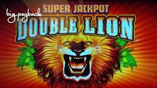 Super Jackpot Double Lion Slot - NICE SESSION, ALL FEATURES!