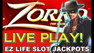 • ZORRO SLOT MACHINE • MIGHTY CASH BONUS • LIVE PLAY • BIG BETS •
