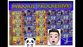 Huge win on Pyramid Progressives! Full screen progressive bonuses!