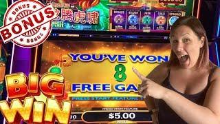 Long Teng Hu Xaio Mighty Cash BONUS BIG WIN FREE SPINS Max Bet Slot Machine Live Play