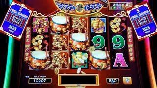$8.80 Max Bet Dancing Drums Slot Machine Bonus BIG WIN (GREAT COMEBACK) | Live Slot Play w/NG Slot