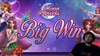 BIG WIN on Moon Princess - Play'n Go Slot - 4€ BET!