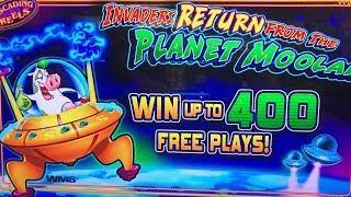 Invaders Return from Planet Moolah ! Big Bonus Wins ! Max Bet
