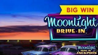 Moonlight Drive-In Slot - INCREDIBLE HIT! ALL BONUS FEATURES!!!