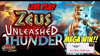 •NEW DELIVERY•  Zeus Unleashed Slot Live Play & Bonuses MEGA WIN!!
