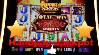 Buffalo Gold Slot Machine •HANDPAY JACKPOT• at Wynn Las Vegas