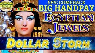 SUPER GRAND CHANCE DOLLAR STORM EGYPTIAN JEWELS •️HANDPAY EPIC COMEBACK NEW STYLE OF LIGHTNING LINK