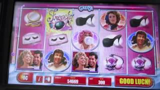 Grease Pink Ladies Slot Machine-live Play- Demo-Bally Technologies