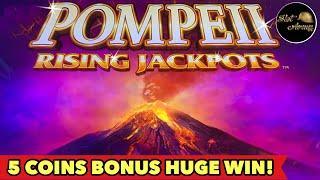 ★ Slots ★️NEW POMPEII RISING JACKPOT★ Slots ★️5 COINS LANDED HUGE WIN | FU DAI LIAN LIAN BONUS SLOT