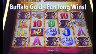 BUFFALO GOLD - Fun Long Wins!  Buffalo Gold Slot Machine