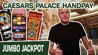 ★ Slots ★ VEGAS JACKPOT HANDPAY at CAESARS PALACE! ★ Slots ★ Jin Long 888 + Wheel of Fortune + Doubl