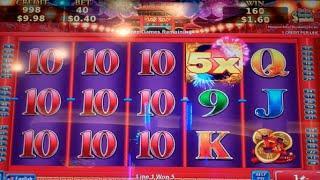 Lady Peony Slot Machine Bonus - 8 Free Games Win with Wild Multipliers (#1)