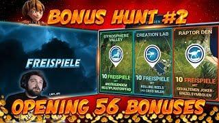 BONUS HUNT #2 - OPENING 56 SLOT BONUSES LIVE ON STREAM! - BIG WINS?