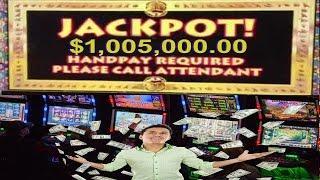 Video Slot Bonus Jackpot Handpay Win $1,005,000 00 Million Dollar Cashout Kitty Glitter, Garden Part