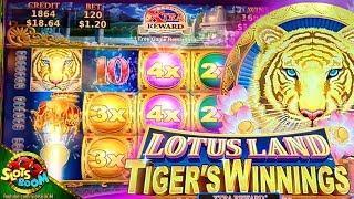 Lotus Land Tiger's Winnings BIG WIN BONUSES!!! 1c Konami Slots