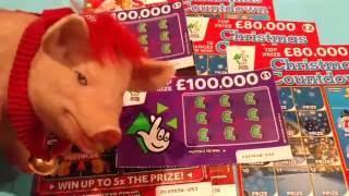 Wow WINNER .Christmas Scratchcard SANTA'S Millions .Christmas Countdown..Multiplier & More..