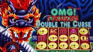5 Dragons slot machine win - OMG! 5 symbol trigger twice at San Manuel Casino