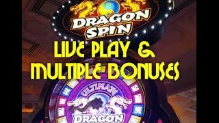 Ultimate Dragon Spin - first look - max bet live play w/ multiple bonuses - Slot Machine Bonus