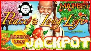 •HIGH LIMIT Dragon Link Peace & Long Life HANDPAY JACKPOT •$50 SPIN BONUS ROUND Slot Machine