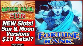 Matsuri Kojiki Sun/Moon Slots - Live Play and Feature in Strange New Game with up to $10 Bets!