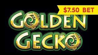 Golden Gecko Slot - BIG WIN LONGPLAY - $7.50 Max Bet!