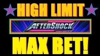 ★ MAX BET HIGH LIMIT AFTERSHOCK SLOT MACHINE! Live Play AfterShock Slot Machine Bonuses! ~ WMS