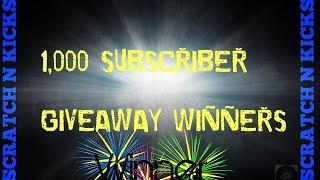 Giveaway Winners Announced congrats all