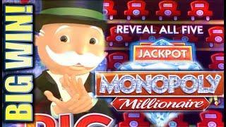 •HUGE MONOPOLY BIG WIN!• • MONOPOLY MILLIONAIRE & MONOPOLY JACKPOT STATION Slot Machine (SG)
