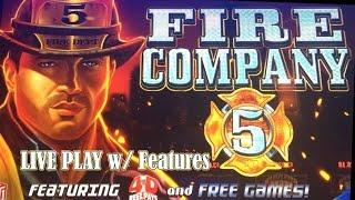 Fire Company 5 - max bet live play w/ features - Slot Machine Bonus